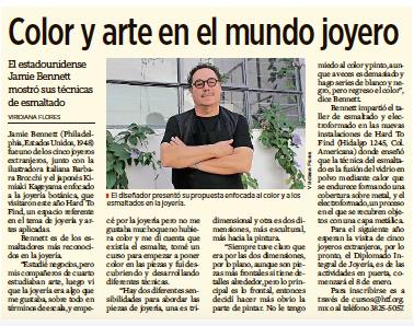 COLOR Y ARTE EN EL MUNDO JOYERO // JAMIE BENNETT