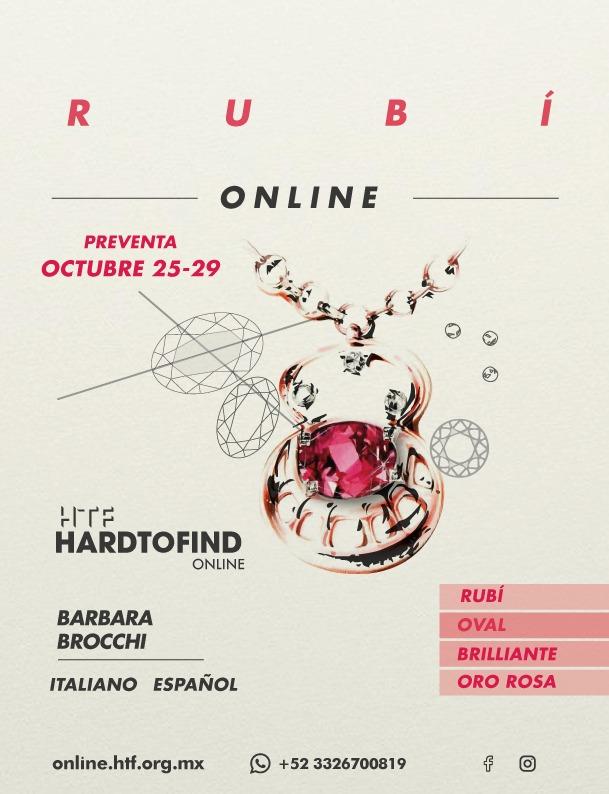 PRE-VENTA // EL RUBI Y EL ORO ROSA // ONLINE